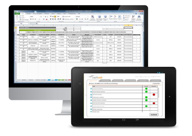 Pasa tus procesos en excel o papel al programa de gestión APPCC SAPHI
